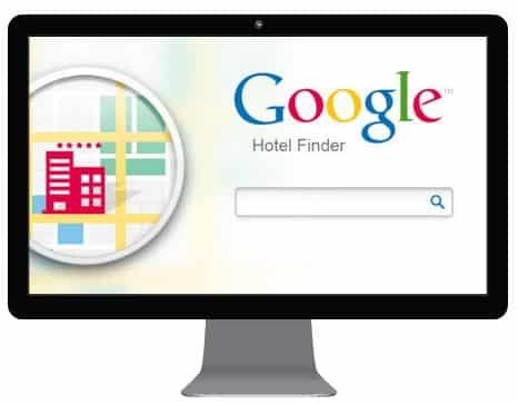 desktop screen showing google hotelfinder | HiRUM