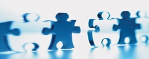 jigsaw pieces standing up | onsite management | HiRUM