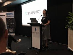 Calisha Allsworth at industry event