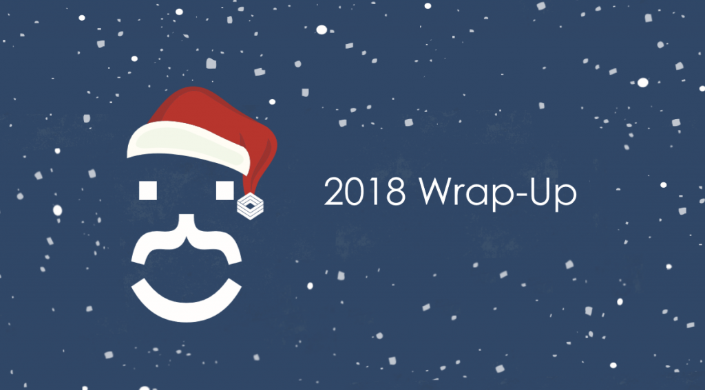 outline of santa with '2018 wrap-up'
