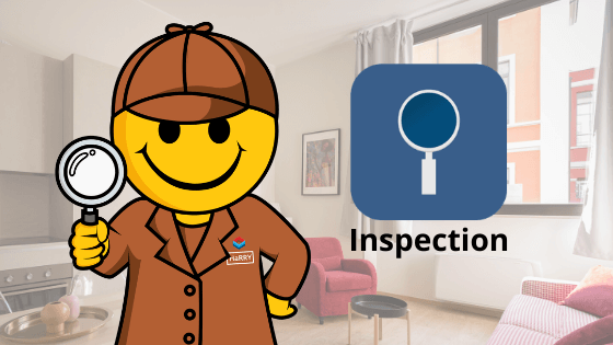 character with amgnifying glass | app for property inspections | HiRUM
