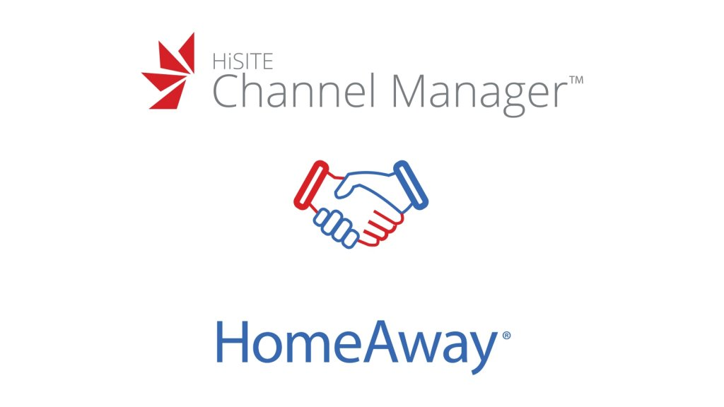 HiSITE and Homeaway logos with handshake icon | Homeaway channel manager | HiRUM