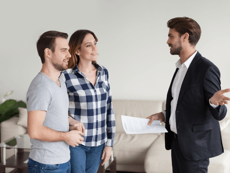 residential property manager showing couple around | HiRUM