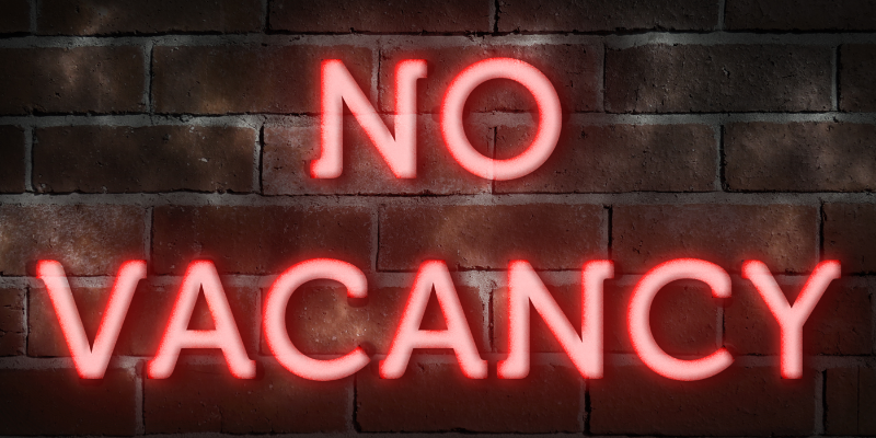 no vacancy in neon lights | calculate and increase occupancy rate | HiRUM
